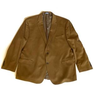 Wool Cashmere Blazer Jos.A.Bank Camel 54 Long 54L